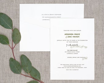 Simply Charming Wedding Invitations - Classic Natural Rustic Vintage