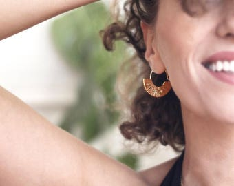 Fan Earrings-Gold Plated 925 Silver