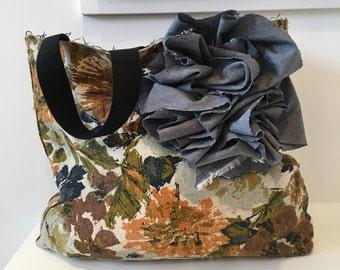 Vintage Drapery Bag/ Tote/ Hanbag