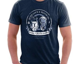 Sherlock Shirt - Sure-Lock & Watts-On Consulting Shirt | Baker Street | Sherlock TV | Television t-shirt | geek | Pop Culture | nerd
