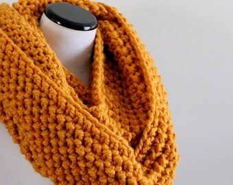 Ready To Ship   Chunky Infinity Scarf   Chunky Knit   Crochet Cowl   Extra Large   Oversized Knit Cowl   Loop Scarf   Gift For Her