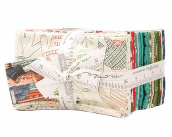 SUMMER SALE - Eat Drink and Be Ugly - Fat Eighths Bundle (38) - Sandy Gervais - Moda Fabric
