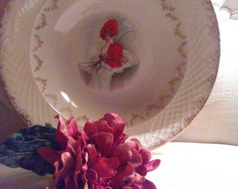 Woman at the Reins/Vintage/Victorian/Scene/Serving Dish/at Nestbox Vintage