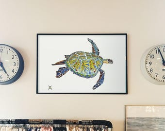 Sea Turtle // home decor// Art Print// beach art //island Gift