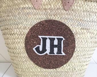 Custom Made Glitter Monogrammed Moroccan Beach Bag