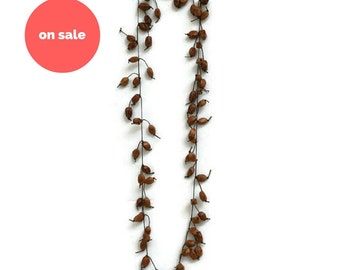 SALE Long Necklace. Wooded Beaded Necklace. Ethnic Hippie Vecklace. Gifts Under 30. Boho Gypsy Necklace. Women's Gift. Bohemian Jewelry