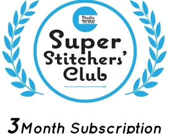 Super Stitchers' Club - 3 months, embroidery club by StudioMME