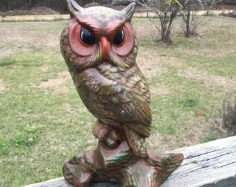 Large Owl Statue Etsy