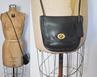 EVERETTE Coach Black Purse / small leather bag