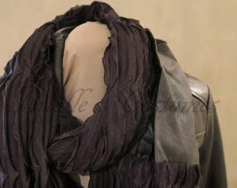 Maleficent Inspired Vegan Leather Circle Scarf Cosplay or Disney Bound