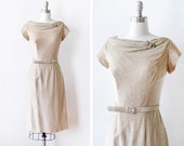 60s gold lurex dress, vintage 1960s silver and gold metallic dress, gold lamé cocktail dress, small s