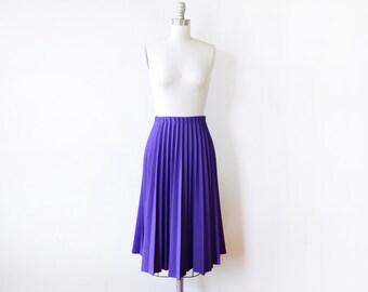 purple pleated skirt, vintage accordion pleated skirt, small medium purple skirt