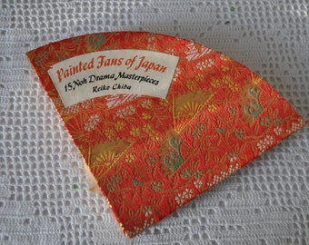 Painted Fans of Japan/Vintage 1970s/Cardstock Art Book With Japanese Poetry
