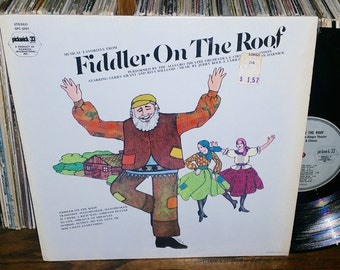 Fiddler On The Roof Vintage Vinyl Musical Soundtrack Record