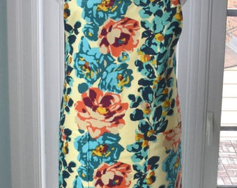Rose Vine Fabric Apron - fabulous large cotton print apron with two front pockets and extra long ties