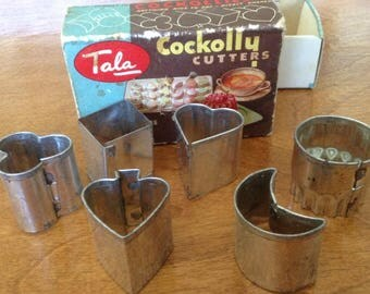 Vintage Tala Cockolly Cutters, Canapé Cutters, Hors D'Oeuvres, Biscuit Cutters, Petits Fours cutters, Made in England