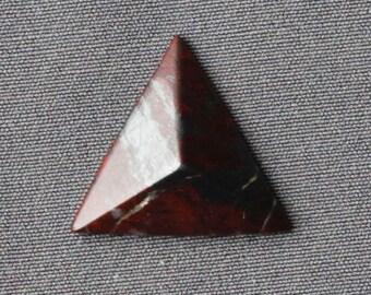 Red Jasper Stone Cabochon - Pyramid Shaped Stone
