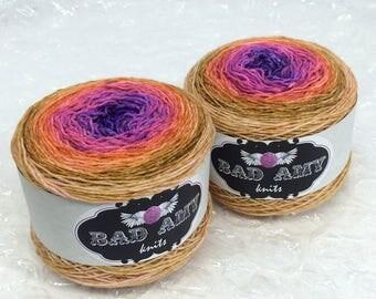 Golden Rainbow Sock Cakes - handpainted gradient sock yarn - 460 yds