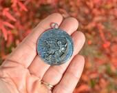 BULK 10 Silver Fairy Moon Pendants SC4045