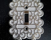 Vintage Swirls ORNATE single Toggle  Switch Plate