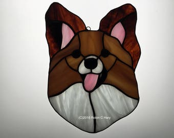 Papillon Suncatcher in Stained Glass