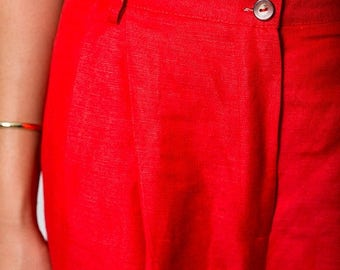 35% OFF SPRING SALE The Vintage Lipstick Red Trouser Pants