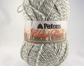 DeStash: Patons Classic Wool Light Grey Marle