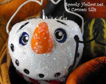 Seau de Spooky bonhomme Noël ornement JOL
