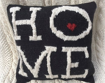 New! Knit Pillow Pattern - HOME