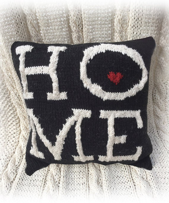 Knitting Household Items : Items similar to new knit pillow pattern home on etsy