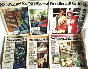 6 Vintage 1980s Needlecraft for Today Magazines