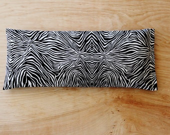 Zebra Print Eye Pillow, Relaxation Gift for Women, Lavender Aromatherapy & Flaxseed Compress