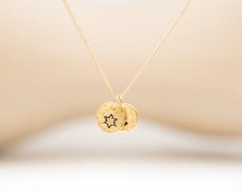 Bat Mitzvah Gift B'nai Mitzvah Bnai Mitzvah Special Occasion Judaica Jewelry Jewish Star Jewish Jewelry Solid Gold Tiny Personalized Gift