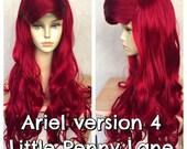 Ariel Little Mermaid Custom Adult Costume Wig Style 4 - A True Enchantment Original