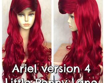 Ariel Little Mermaid Custom Adult Costume Wig Style 4 - A True Enchantment Original