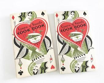Vintage Cook Book Peter Pauper Press 1955 Mid Century Queen of Hearts Recipes