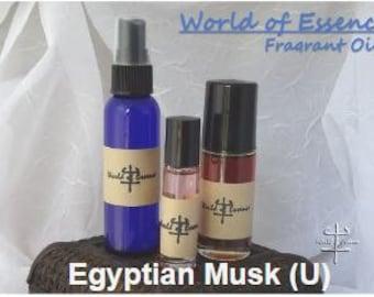 100% Pure Perfume Fragrance Body Oil- Egyptian Musk  (U)
