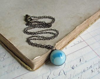 Marble Necklace, One of a Kind Repurposed Jewelry, Under 20 Gift