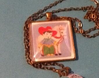 Little Cowboy Pendant Necklace