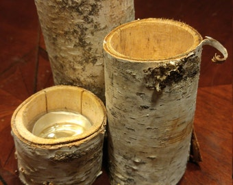 Birch Tree Branch Tea Light Holder/Planter