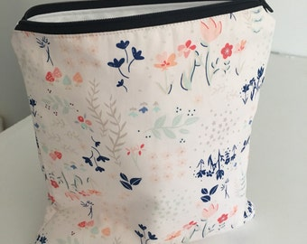 Zippered Wet Bag with Waterproof Lining - Art Gallery Floral