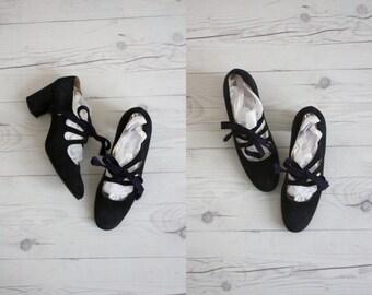 1960s cutout heels / size 7