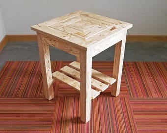 End Table/Side Table, OSB, 16 x 16 x 20 Tall, On Sale - Prototype,