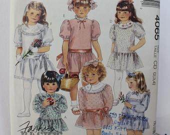 1980s Girls Dress, Easy Mccall's 4065, c1988
