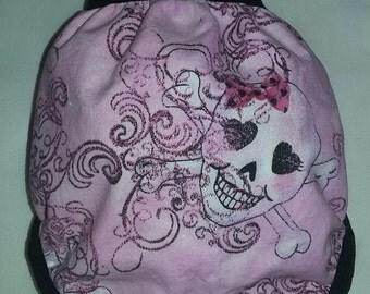 Skull print medium  Diaper cover