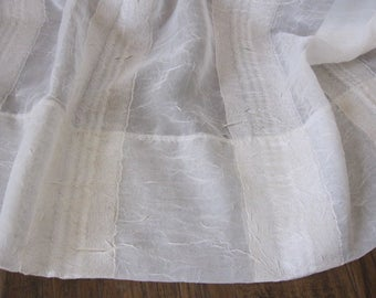 Sheer Curtain, Sheer Off White Bali Inspired Curtain 84 long...a total of 2 are available