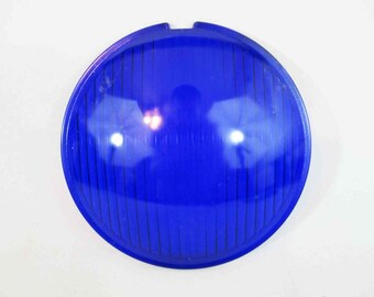 Vintage Theater Stage Lamp Lens in Blue by Century Lighting Inc. Circa 1950's - 1960's.