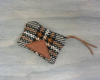 Plaid wallet / Coin purse / Plaid Mini wallet / Change purse / Plaid Pouch / Zip pouch / Plaid Purse / Gifts for Her / Gifts under 25