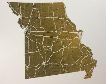 Missouri - Foil Print 28 Colors Available