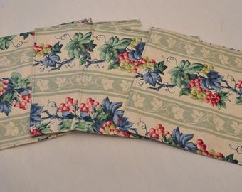 4 Eco Small Lunch Tea Doll Child Placemats Washable Upcycled Fabrics